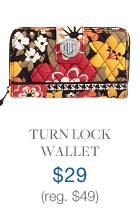 Turn Lock Wallet $29 (reg. $49)
