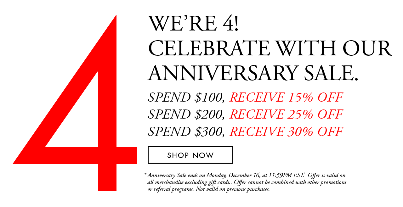 4th Year Anniversary Sale