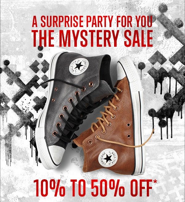 A SURPRISE PARTY FOR YOU. THE MYSTERY SALE.