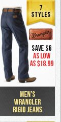 Mens Wrangler Rigid Jeans