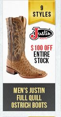 Mens Full Quill Ostrich Boots