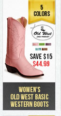 Womens Old West Basic Colored Boot