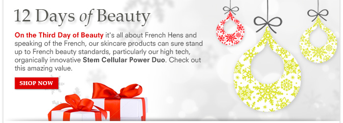 12 Days Of Beauty: Day 3 - Stem Cellular Power Duo - $85 ($110 value)