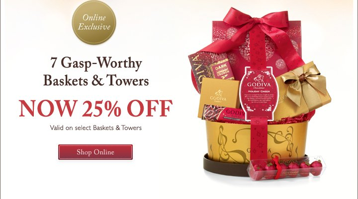 Online Exclusive 7 Gasp-Worthy Baskets & Towers NOW 25% OFF | Shop Online