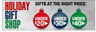 the holiday gift shop - gifts at the right price - click the link below