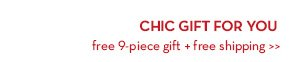 CHIC GIFT FOR YOU free 9-piece gift + free shipping.