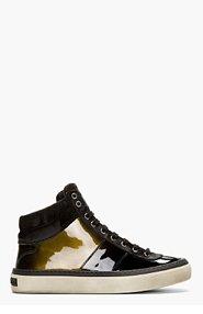 JIMMY CHOO Black Patent Leather Belgravia Hi-Tops for men