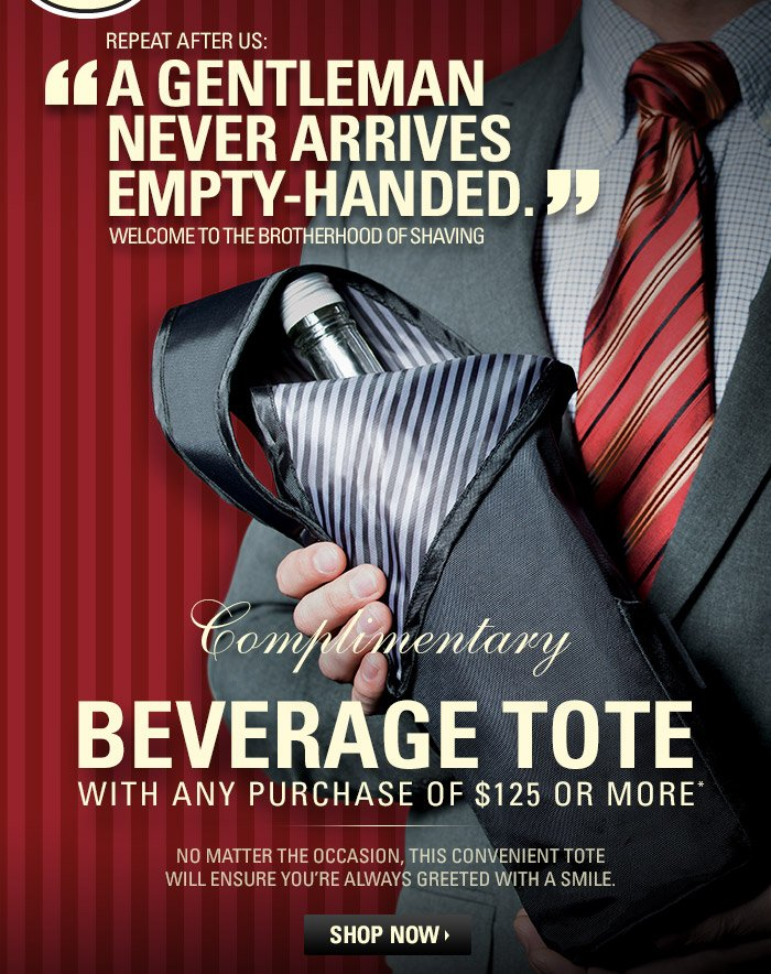 Complimentary Beverage Tote with any purchase of $125 or more