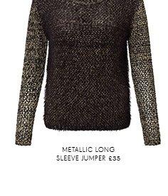 Metallic Long Sleeve Jumper