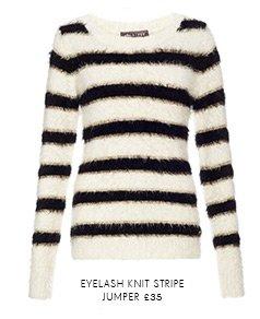 Eyelash Knit Stripe Jumper