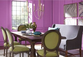 Room scene with Radiant Orchid