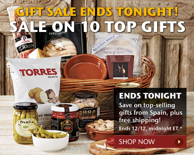 Gift Sale Ends Tonight! Sale on 10 Top Gifts - Ends Tonight - Save on top-selling gifts from Spain, plus free shipping! Ends 12/12, midnight ET.* Shop Now