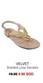 VELVET Braided Lopp Sandals
