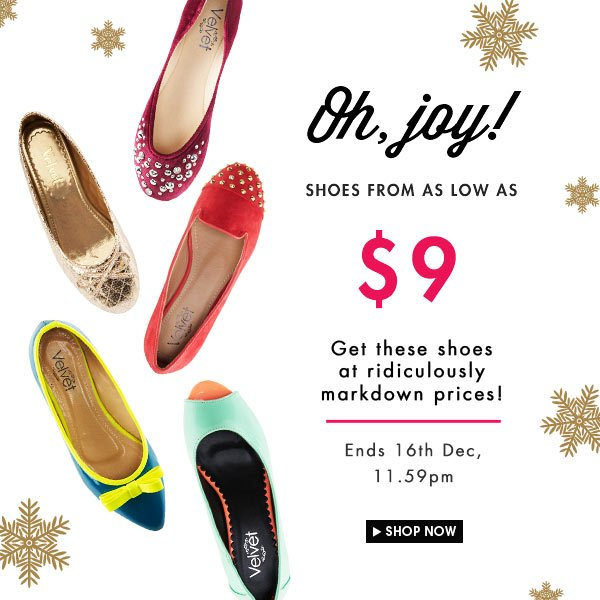 Shoes as low as $9