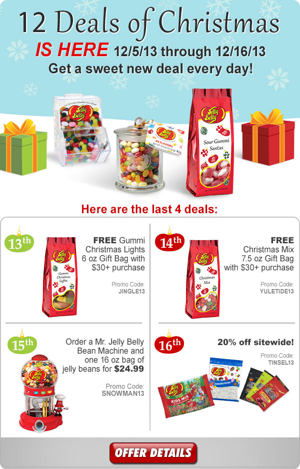 12 Deals of Christmas is Here! Dec. 5th through Dec. 16th, 2013.