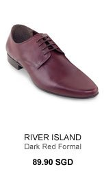 River Island Dark Red Formal Shoes