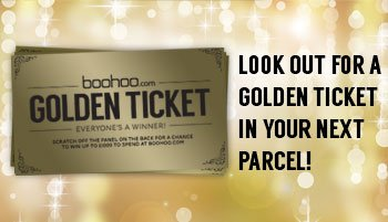 Look out for a golden ticket in your next parcel!