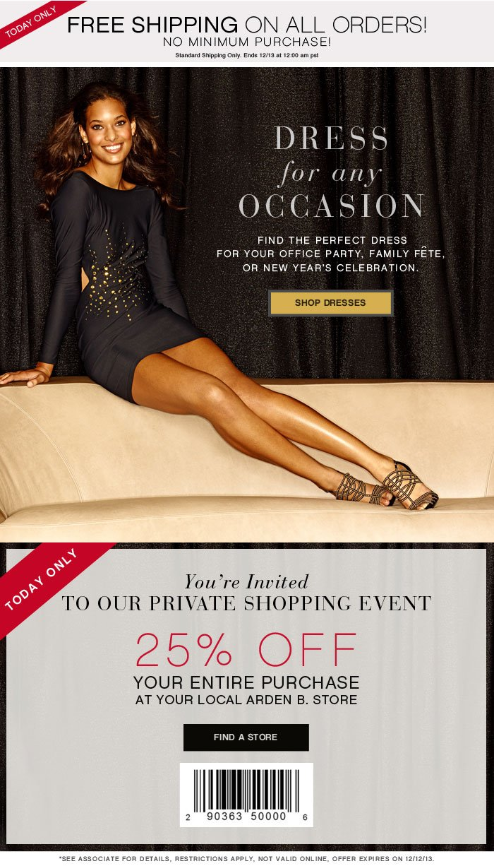 ALL DRESSED UP - UP TO 40% OFF DRESSES + PRIVATE SHOPPING EVENT - shop now