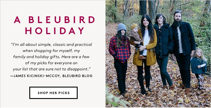The lovely James Kicinski-McCoy of Bleubird Blog picks the holiday gifts of the season.