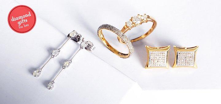 Diamond Earrings & Rings under $599