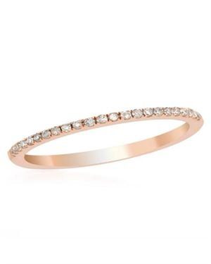 14K Rose Gold Ring with 0.16 CTW Diamonds