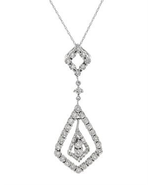 White Gold Necklace with 0.52 CTW Diamonds