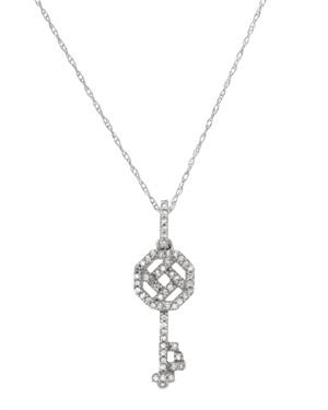 White Gold Necklace with 0.15 CTW Diamonds