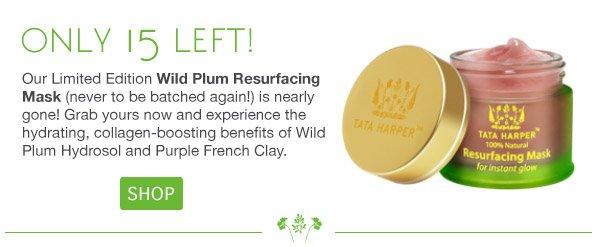 Only 15 Wild Plum Masks Left! Shop Now