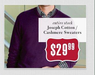 $29.99 USD - Joseph Cotton/Cashmere Sweaters