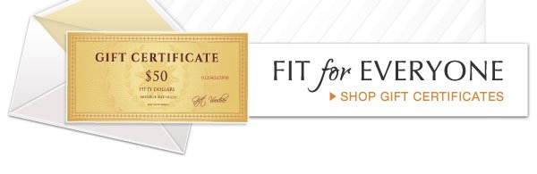 Fit for Everyone | Shop Gift Certificates