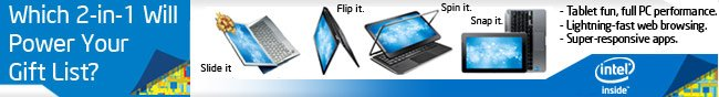 Intel - Which 2-in-1 Will Power Your Gift List?