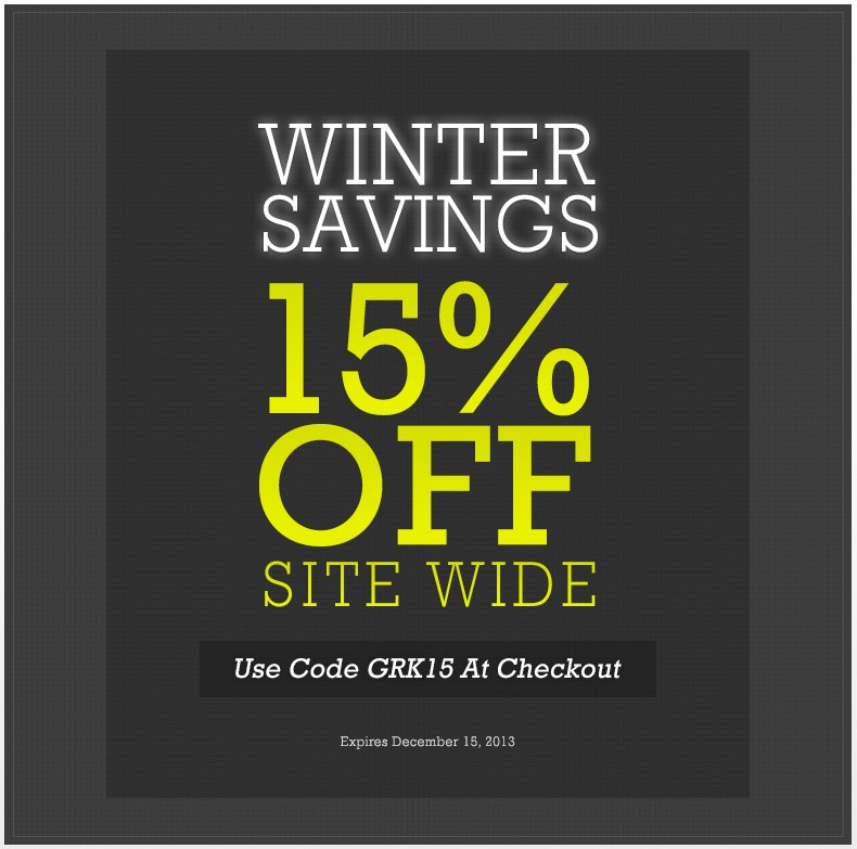 Winter Savings - 15 Off With Code GRK15