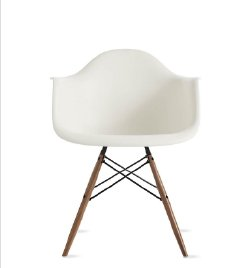 EAMES MOLDED PLASTIC ARMCHAIR IN STOCK