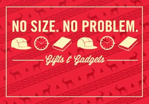 Shop No Size, No Problem: Gifts & Gadgets