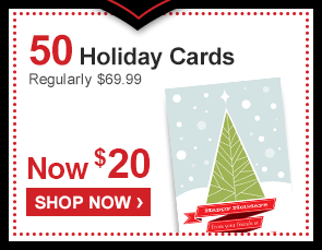 50 Holiday Cards Regularly $69.99 Now $20 - Shop Now ›
