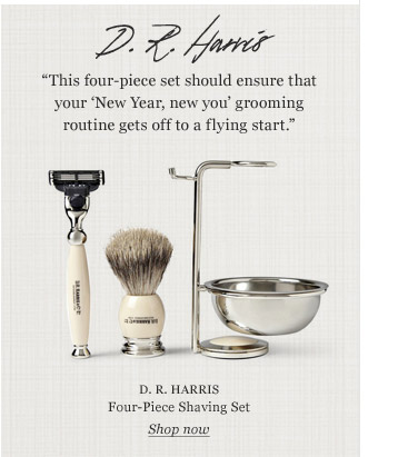 D.R. HARRIS Four-Piece Shaving Set