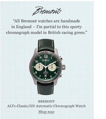 BREMONT ALT1-Classic/GN Automatic Chronograph Watch