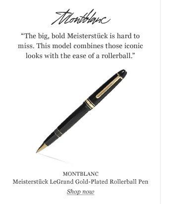 MONTBLANC Meisterstück LeGrand Gold-Plated Rollerball Pen