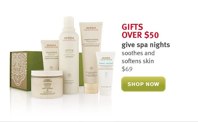 give spa nights. shop now.