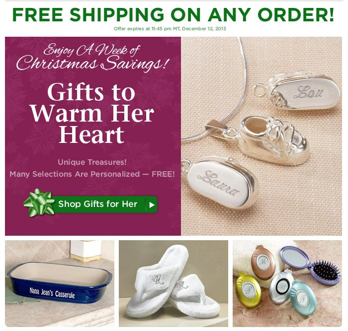 Enjoy A Week of Christmas Savings: FREE Shipping - Ends Today!
