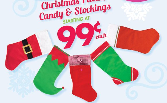 Christmas Plush, Candy & Stockings