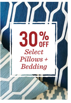 Last day! 30% off select pillows + bedding
