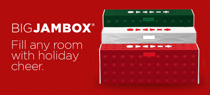 BIG JAMBOX. Fill any room with holiday cheer.