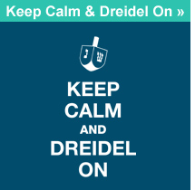 Keep Calm & Dreidel On T-shirt