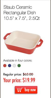 Staub Ceramic Rectagular Dish