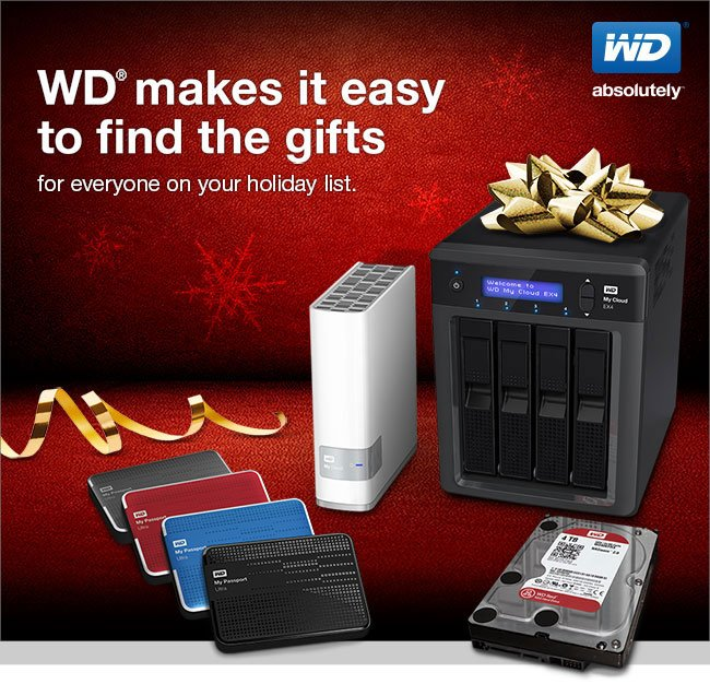 WD makes it easy to find the gifts