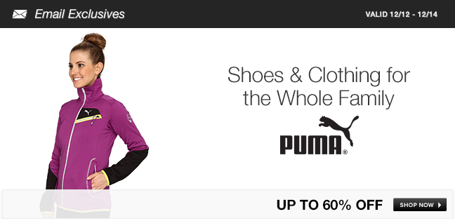 PUMA Shoes and Clothing for the Whole Family