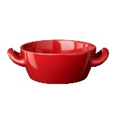 Höganäs Bowl with Handles, Red Glazed