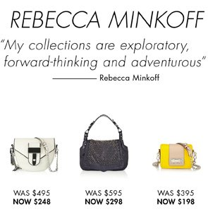 REBECCA MINKOFF. SHOP NOW