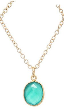 Green Chalcedony Oval Necklace